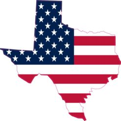 American Flag Texas Vinyl Sticker