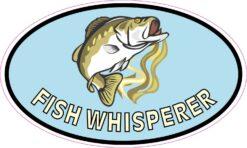Bass Oval Fish Whisperer Vinyl Sticker
