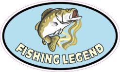 Oval Fishing Legend Vinyl Sticker