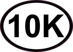 Oval 10K Vinyl Sticker
