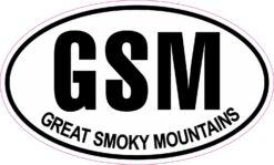 Oval Great Smoky Mountains Vinyl Sticker