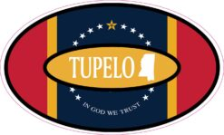 Mississippi Silhouette Oval Tupelo Vinyl Sticker