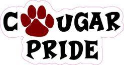 Maroon Cougar Pride Vinyl Sticker