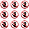 Square Do Not Touch Vinyl Stickers