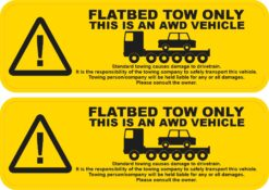 Flatbed Tow Only Vinyl Stickers
