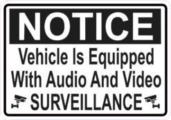 Symbol Vehicle Equipped with Audio and Video Surveillance Magnet