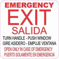 English Spanish Emergency Exit Magnet