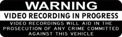 Video Recording in Progress Vinyl Sticker