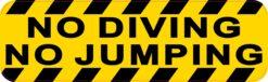 No Diving No Jumping Vinyl Sticker