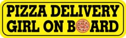 Pizza Delivery Girl on Board Vinyl Sticker
