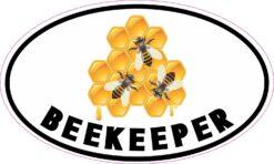 Oval Beekeeper Vinyl Sticker