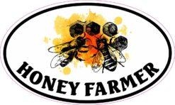 Oval Honey Farmer Vinyl Sticker