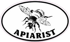 Oval Apiarist Vinyl Sticker