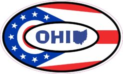 Map Oval Ohio Vinyl Sticker