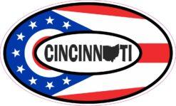 Map Oval Cincinnati Ohio Vinyl Sticker