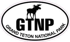 Moose Oval Grand Teton National Park Vinyl Sticker