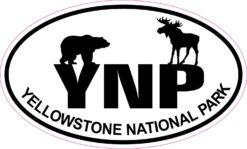 Wildlife Oval Yellowstone National Park Vinyl Sticker