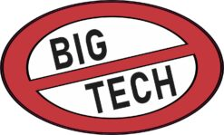 No Big Tech Vinyl Sticker
