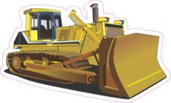 Bulldozer Vinyl Sticker