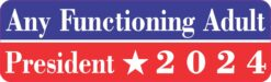 Any Functioning Adult President 2024 Magnet