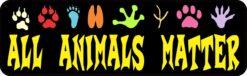 All Animals Matter Vinyl Sticker