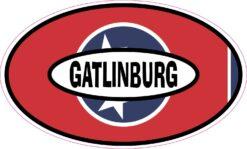 Flag Oval Gatlinburg Vinyl Sticker