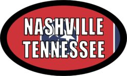 Flag Oval Nashville Tennessee Vinyl Sticker