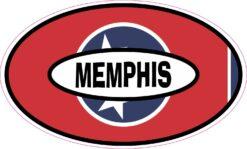Flag Oval Memphis Vinyl Sticker