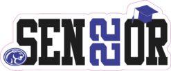 Blue Cougar Senior 2022 Vinyl Sticker