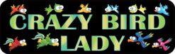 Crazy Bird Lady Vinyl Sticker