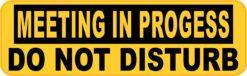 Meeting in Progress Vinyl Sticker