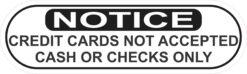 Cash or Checks Only Vinyl Sticker