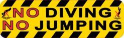 Symbol No Diving No Jumping Vinyl Sticker