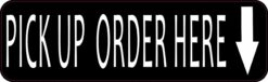 Down Arrow Pick Up Order Here Magnet