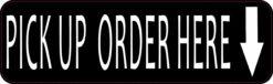 Down Arrow Pick Up Order Here Vinyl Sticker
