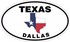 Texas Oval Dallas Vinyl Sticker