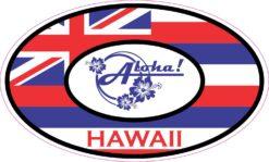 Aloha Oval Hawaii Vinyl Sticker
