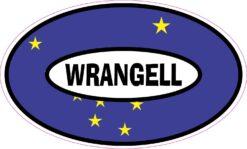 Flag Oval Wrangell Alaska Vinyl Sticker