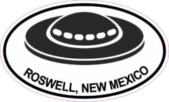 UFO Oval Roswell New Mexico Vinyl Sticker