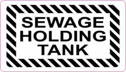 Sewage Holding Tank Vinyl Sticker