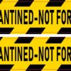Quarantined Not for Sale Vinyl Stickers