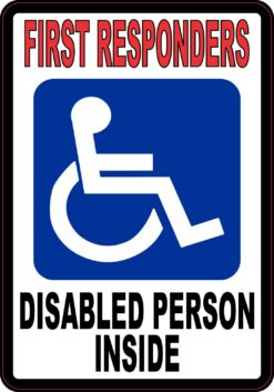 Disabled Person Inside Vinyl Sticker