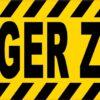 Danger Zone Vinyl Sticker