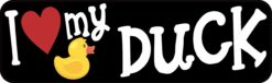 Rubber Ducky I Love My Duck Vinyl Sticker