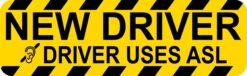 New Driver Uses ASL Vinyl Sticker