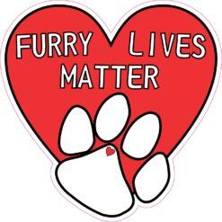 Furry Lives Matter Vinyl Sticker