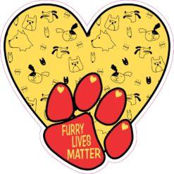 Dogs Furry Lives Matter Vinyl Sticker