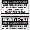 Video Recording in Progress Vinyl Stickers
