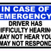 Driver Has Difficulty Hearing Vinyl Sticker