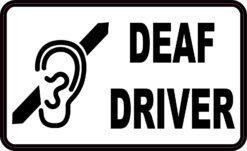 Deaf Driver Vinyl Sticker